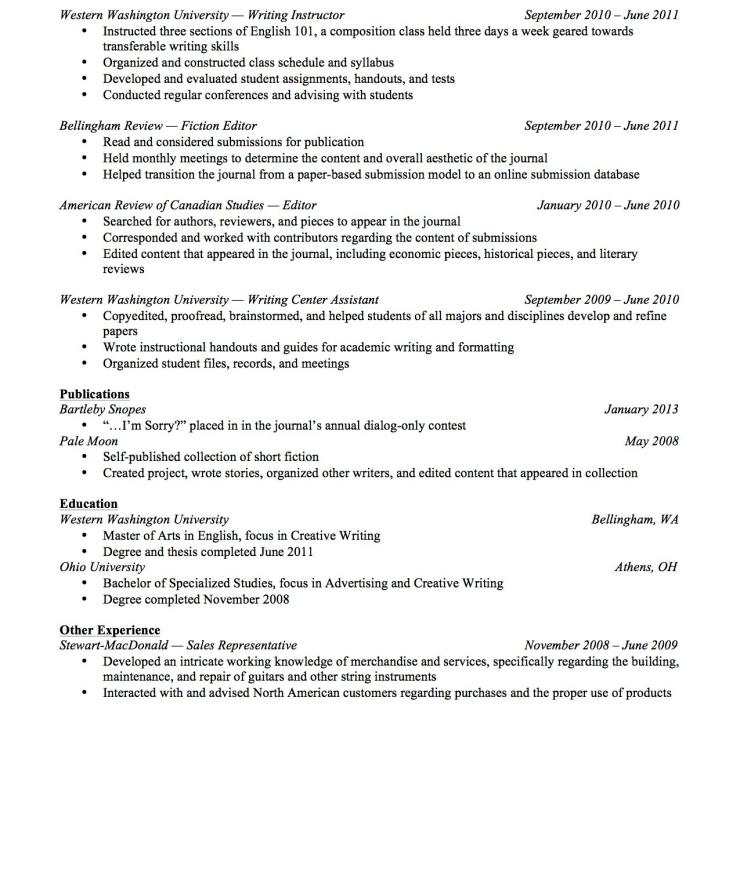 Resume – Joshua Browning